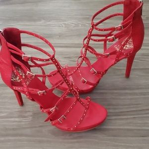 Vince Camuto Revelli Cherry Red Platform Sandal